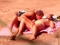 Beach sex and BJ with curvy girlfriend