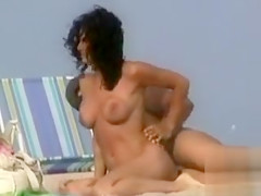 Lovely Latina couple gets pleasure at the seaside