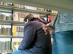 Masturbating next to a woman in the bookstore