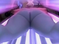 Curvy blonde has no idea she's being video recorded