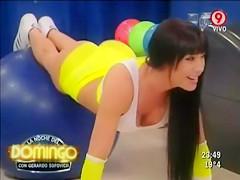 Sporty Latina captivates on television