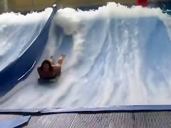 Bouncing big tits at the water park
