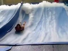 Bouncing big tits at the water park