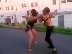 Real female fight with a couple of crazy chicks