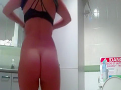 I managed to film my aunt's nude body