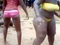 Her ass is pretty fat, yet she dances like crazy