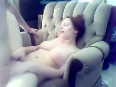 Homemade hardcore sex tape with curvy redhead GF