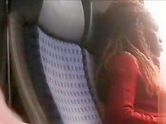 Train wanking while staring at a black woman