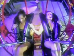 Upskirts on the amusement ride
