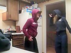 Two coeds enjoy erotic dance