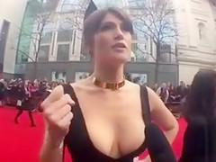 Glamorous cleavage of the elegant lady
