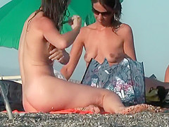 Nice butt on a woman at the nude beach