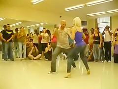 Modern dance demonstration for the class