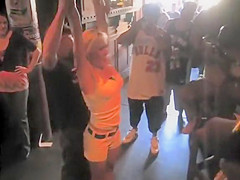 Blonde beauty gives the guy a treatment