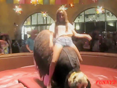 Stunning babes taking the bull ride