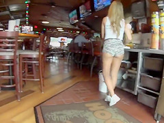 Spying on the sexy waitresses at Hooters