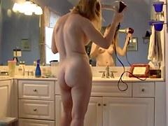 Wife Drying Hair