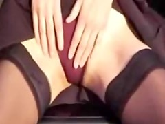Horny slut fucks a car hook in public voyeur video