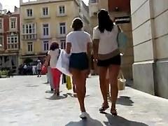 Short shorts, teenage booties