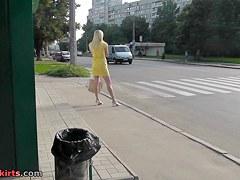 Spectacular street upskirt footage