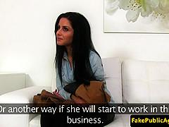 euro amateur cocksucks agent at interview