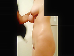 Amazing Jiggling Boobs after Shower