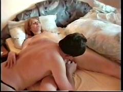 Mature slut enjoys a dildo and a dick in voyeur sex video