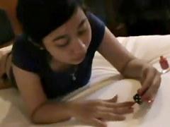 Cutie Lee preparing to be screwed Surabaya Indonesian