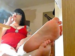 Showing Off The Soles Of My Feet & Smokin' - Foot Fetish