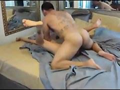 Muscle boyfrend bonks his sexy wife on hidden cam