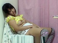 Petite Japanese Teen Dildo Masturbation