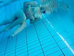 Underwater cam at sauna pool