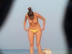 Shaved Pussy Pierced Clit Nudist Hot Milf Voyeur Video HD