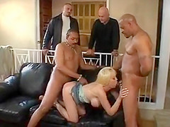 Hottie with nice boobs banged by 2 dudes