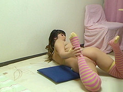 Japanese Gal Erotic Exercise in the Room
