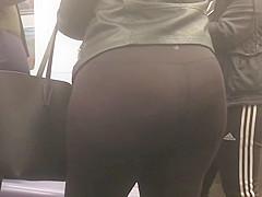 Nice Round Latina Teen Ass in Black Spandex