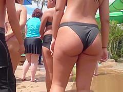 Thick Latina Booty Bikini Close-Up Voyeur Spycam