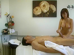 A Chinese Girl Masturbating A Clients Big Cock