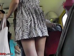 Great upskirt movie with 2 honeys