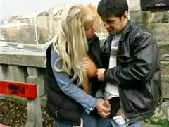 Street Hooker Masturbating Stud in Public BVR