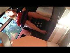 Legs on upskirt in educate 15