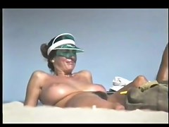 Fabulous Breasty Playgirl on Stripped Beach