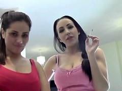 English whores nina & jasmine smokin' banter