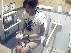 Toilet girls exposed on camera spy