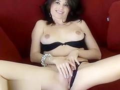 Big Tit Brunette Housewife Wearing Bikini Masturbates With Finger