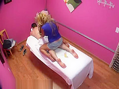 Blonde Masseuse With Big Tits Gives Client Sensual Massage