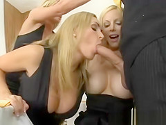 Cougars jerking off the waiter