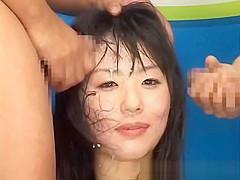 Shocked TV Weathergirl Facial on Live TV