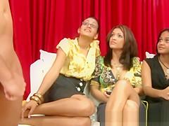 Female voyeurs watching guys masturbate