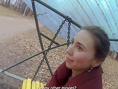Real babe doggystyled by stranger in pov